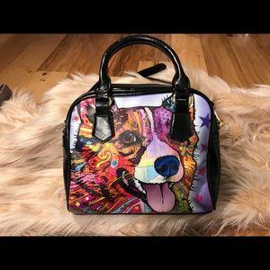 Handbags - Super cute technicolor happy dog bag